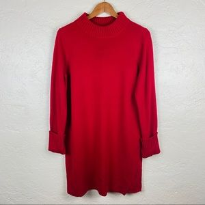 Chico's Red Long Sleeve Sweater Dress Size 1